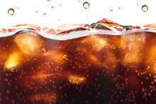 Cola Splashing Background With...