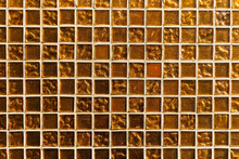 Golden Mosaic Tile. A Fragment...