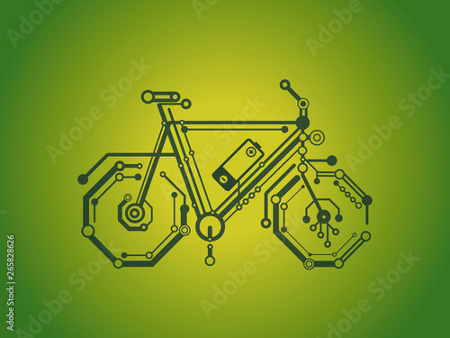 Fotografie, Obraz  e-bike with battery charging