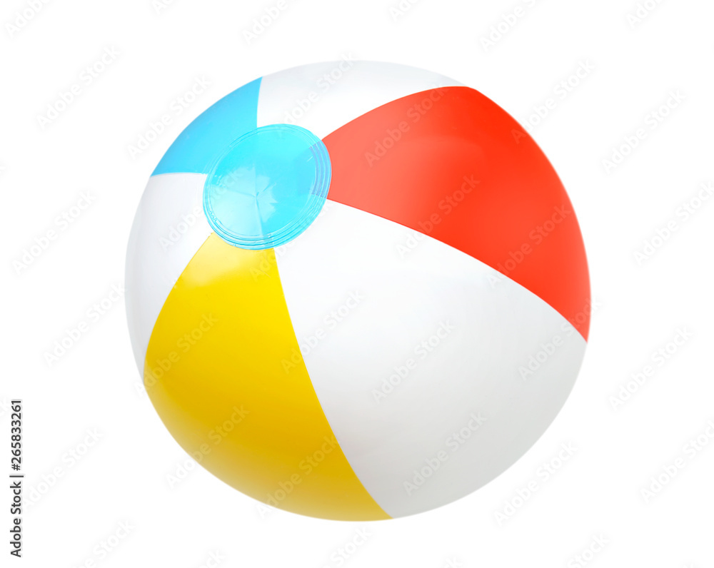 Fototapety, obrazy: Summer water beach ball isolated.