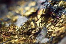 Golden Background. Gold Nugget...