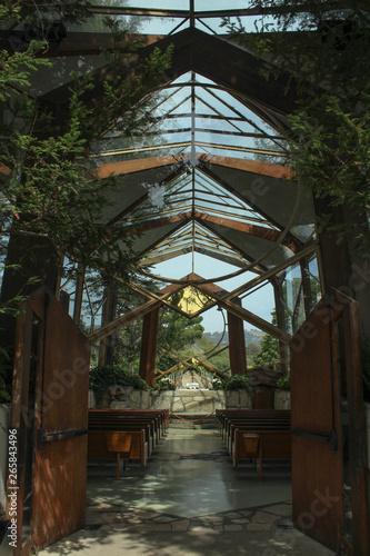 Wayfarers Chapel Glass Church, Historic Landmark in Palos Verdes, California Canvas Print