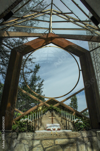 Wayfarers Chapel Glass Church, Historic Landmark in Palos Verdes, California Canvas Print