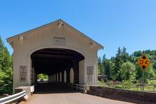 Goodpasture Covered Bridge, The Second Longest Covered Bridge In Oregon, USA