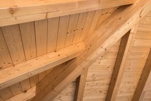 Wooden Ceiling With Exposed Be...