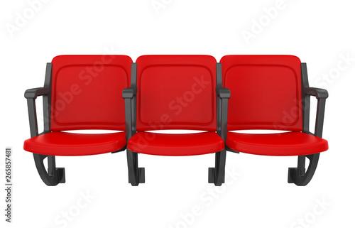 Slika na platnu Red Stadium Seats Isolated