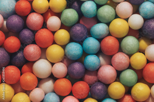 Garden Poster Candy Colorful bright background, multi-colored balls