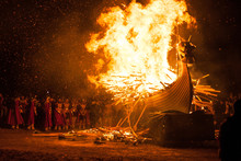 Up Helly Aa Burning Galley Ship