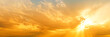 canvas print picture - sunset sky panorama landscape background natural color of evening landscape with setting sun light coming through clouds panoramic view
