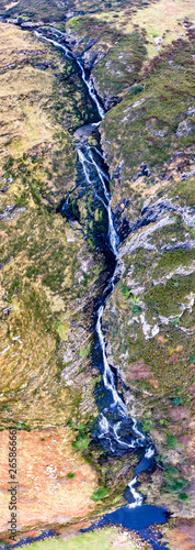 Aerial of Assaranca Waterfall in County Donegal - Ireland - 265866661
