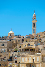 Palestine, West Bank, Bethlehem. View Of Buildings In The Old Town.