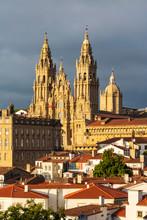 Exterior View Of Cathedral Of Santiago De Compostela
