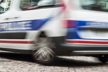 Closeup Of French Police Car I...