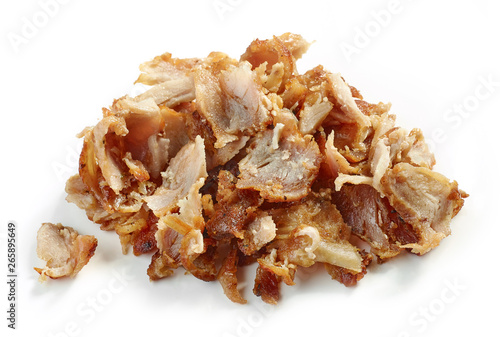 heap of fried chicken meat - 265895649