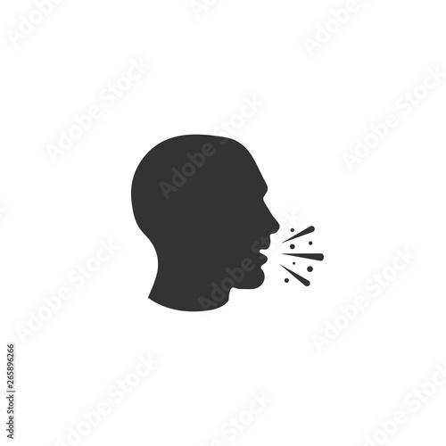 Fotografie, Obraz Cough icon in simple design. Vector illustration