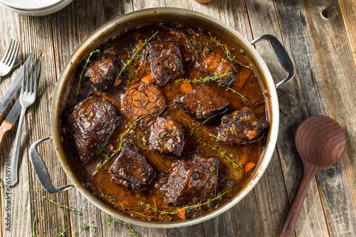 Valokuvatapetti Homemade Braised Beef Short Ribs