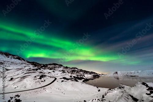 Poster Aurore polaire Aurora borealis on Reykjanes Peninsula