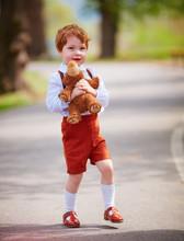Cute Redhead Baby Boy With Plu...