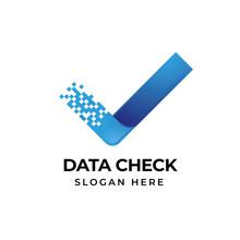 Check Tech Logo Template. Letter V Icon Symbol Illustration Design