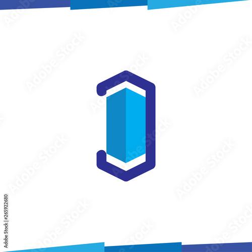 D Letter Hexagonal Logo Icon Vector Template Home Logo