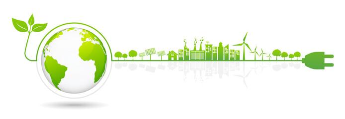 Banner design elements for sustainable energy development,