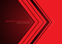 Abstract Red Arrow Direction On Dark Blank Space With Text Design Modern Futuristic Background Vector Illustration.