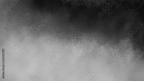 Photo  Black background with cloudy white and gray fog illustration