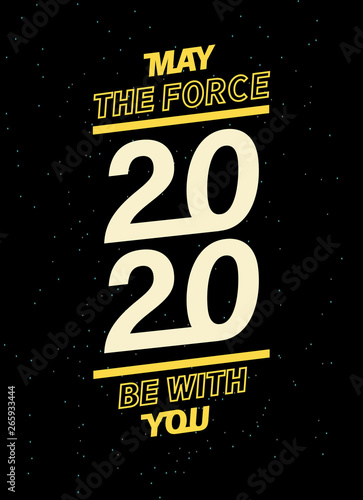 may the force be with you for your seasonal leaflets and greeting cards or Christmas themed invitations Canvas Print