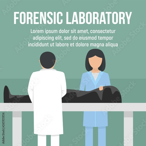 Forensic laboratory dead man concept background Canvas Print