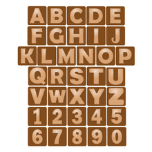 Letters And Numbers With Leather Effect