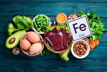 Food Containing Natural Iron. ...