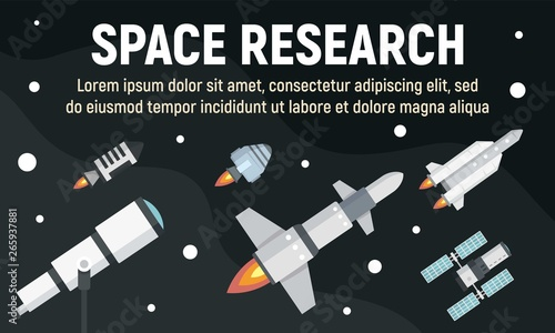 Space research concept banner Tapéta, Fotótapéta