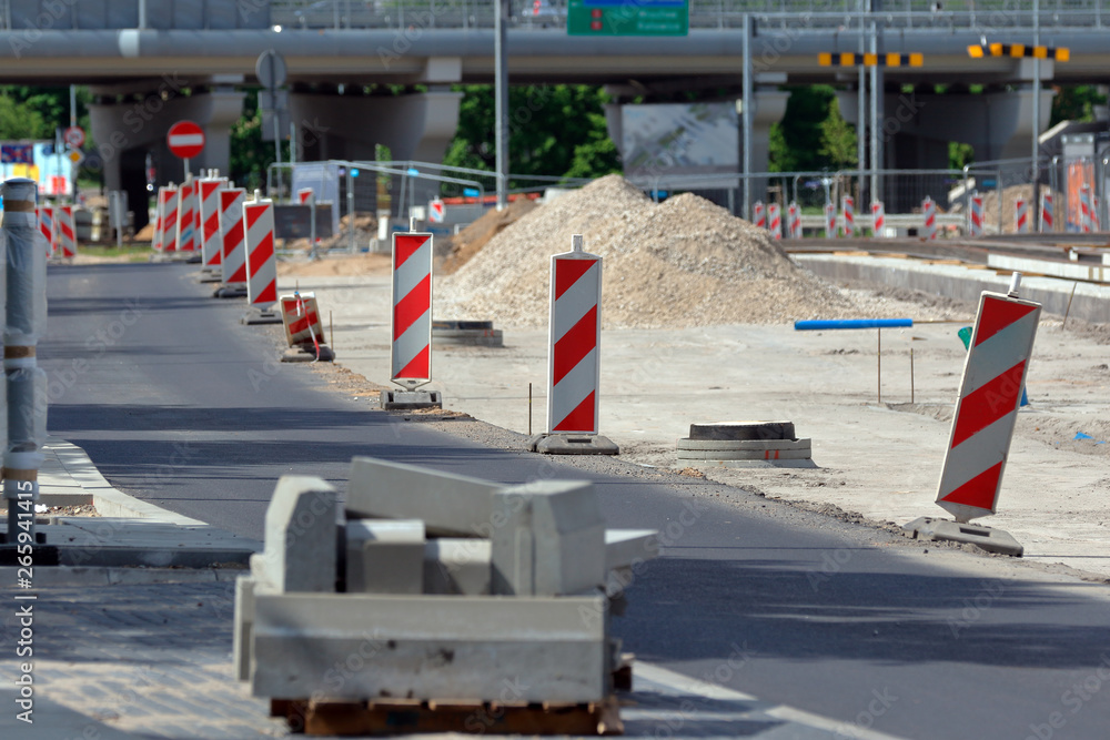 Fototapety, obrazy: Road construction in the city