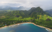 Aerial View Over Blue Bay, Gol...