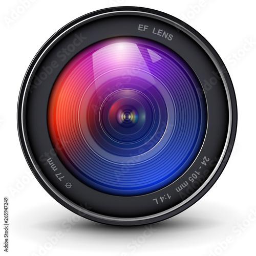 Photo Camera photo lens 3D realistic icon