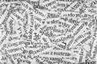 Leinwanddruck Bild - Newspaper paper strips background