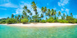 Leinwandbild Motiv Panorama of beach on tropical island