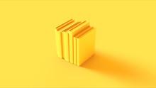 Yellow Row Of Books 3d Illustr...