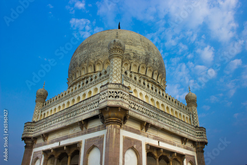 Photo  Hyderabad, Telangana, India- Friday, 30 April 2019- The Qutb Shahi Tombs are located in Hyderabad - India