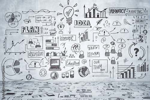 Marketing and finance concept