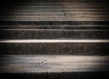 Broken Old Concrete Staircase ...