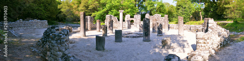 Butrint - Ruins of the ancient city Buthrotum, ancient Greek and later Roman cit Canvas Print