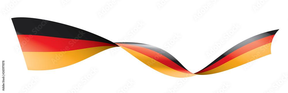 Fototapeta Germany flag, vector illustration on a white background