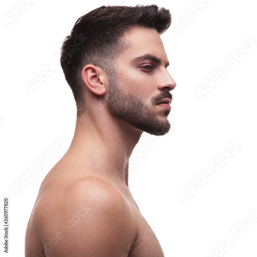 side view of a naked man looking away superior Fototapeta