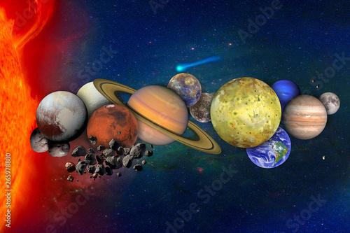 Obraz na plátně  Solar system concept