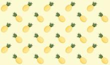 Minimal Pastel Yellow Pineappl...