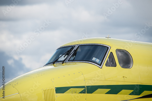 Fotografie, Obraz  Cockpit of an ambulance airplane