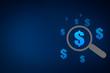 American dollar symbol, dollar currency concept