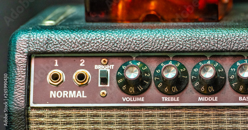 An amp where the volume goes to 11 Canvas Print