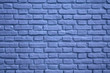 Light Blue Colored Brick Wall for Background, Texture or Pattern
